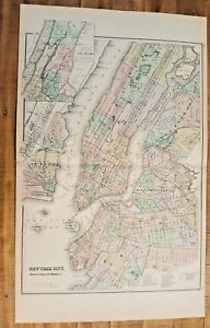 Antique Map Gray S New York City The National Atlas 1893