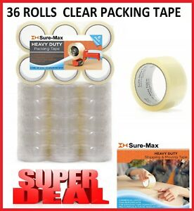 Clear Packing Tape Carton 36 Rolls Sealing 110 Yards Package Box Shipping 330 Ft