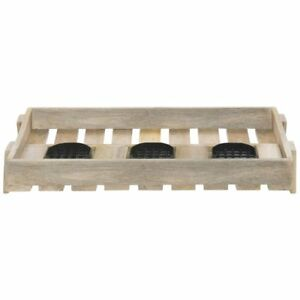 Airpot Holder For 3 Thermal Airpot Coffee Dispensers Mango Wood 24 l X 13
