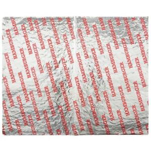 Imprinted Foil Wrap Paper lined hamburger 14 l X 10 1 2 w 2500 case