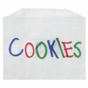 Single serve Printed Paper Cookie Bags 4 1 2 l X 3 1 2 h