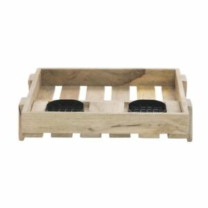 Airpot Holder For 2 Thermal Coffee Servers Mango Wood Double Airpot Holder 16