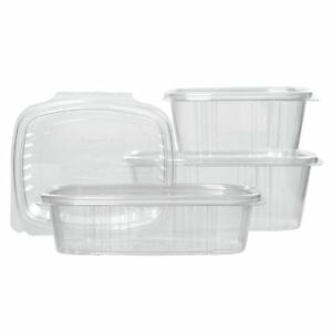 Take Out Food Container Hinged 24 Oz Clear Plastic Deli 7 1 4 l X 6 3 8 w X