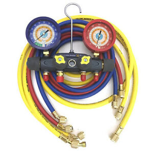 Yellow Jacket 46038 Brute Ii Test Charge Manifold F c Liquid Gauge
