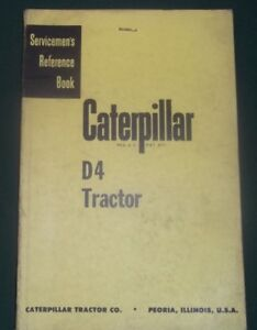 Cat Caterpillar D4 Crawler Tractor Dozer Service Shop Repair Manual 7u 4g 7j 2t