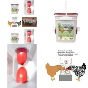 Poultry Chicken Hen Quail Automatic Feeder Poultry Large 6 Pound Hanging Feed