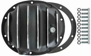 Black Finned Aluminum Dana 35 10 bolt Diff Differential Cover Jeep Yj Midsize