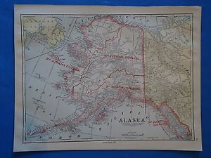 Vintage 1926 Alaska Territory Map Old Antique Original Atlas Map 101718