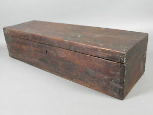 Antique 1800 S Wooden Dovetailed Tool Storage Box 32 Blanket Chest