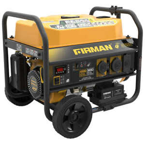 Firman Gas Powered Generator 4550w Peak With Remote Free Shipping No Tax