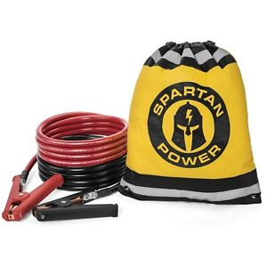 0 Gauge 10 Foot Heavy Duty Jumper Cables By Spartan Power Made In The Usa