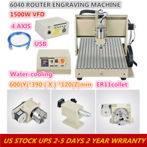 4 Axis 6040 Cnc Router Desktop Engraver Milling Machine Engraving Drilling 1 5kw