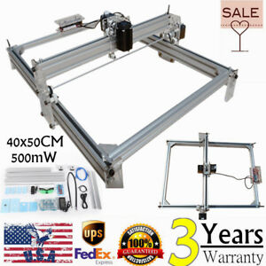 40x50cm Laser Engraving Cutting Cutter Marking Machine Printer Logo Kit 500mw Us