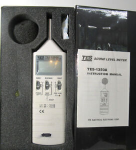 Tes 1350a Sound Level Meter Case And Manual Electronic Corp As Is