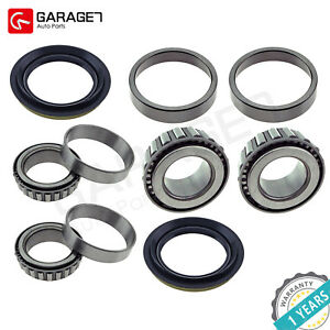 Set Front Wheel Bearing race seal Assembly Fit Nissan 720 D21 Frontier Pickup