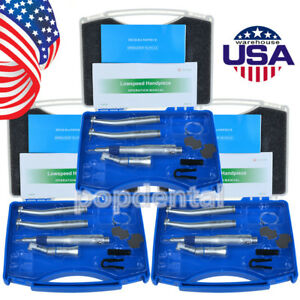 Us 3x Dental Nsk Style Pana Max 2 Holes High Low Speed Handpiece Kit Ex203c