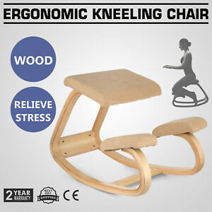 Adjustable Bentwood Ergonomic Kneeling Chair Thick Comfortable Balance Body