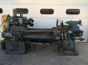 Lodge Shipley 23 x55 Metal Lathe Geared Head L Taper 3 Jaw Chuck 230v