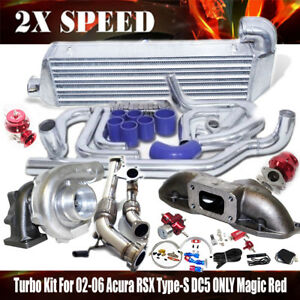 02 06 Acura Rsx Type S 2 0 Dohc 200hp K20a2dc5 Only Bolts On Turbo Kit Magic Red