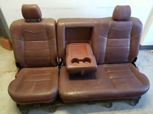 2008 2010 Ford Super Duty King Ranch Rear Seat Leather With Fold Out
