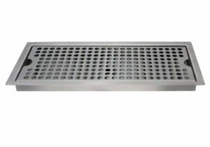 Beer Drip Tray Stainless Steel Flush Mount Drip Tray W drain Kegco Sedp 220d