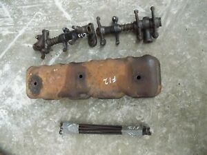Mccormick Deering Farmall F12 Tractor Engine Motor Rocker Arm Push Rods Cover
