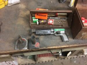 Vintage Metal 122md Ramset Fasteners Inc Powder Actuated Cement Fastener Gun