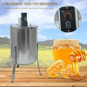Pro Electric 4 8 Frame Stainless Steel Honey Extractor Beekeeping Equipment Us V