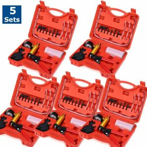 5sets Heavy Duty Brake Bleeder Vacuum Pump Test 2 In 1 Set Bleed Air Tool