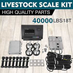 40000lbs Livestock Scale Kit For Animals Junction Box Floor Scale 18t