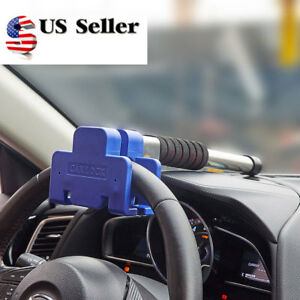 Stainless Steel Car Anti Theft Security Rotary Steering Wheel Lock Top Mount Suv