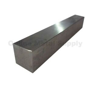 2 X 2 304 Stainless Steel Flat Bar Square Bar 6 Length Mill Stock