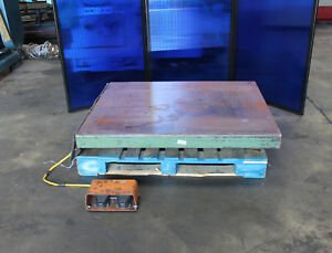 4 000 Lb X 54 X 42 American Electric Hydraulic Scissor Lift Table