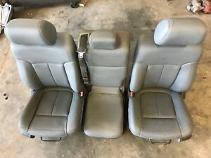 2011 2016 Ford F250 F350 F450 F550 Super Duty Seats Front Set Grey Vinyl