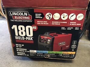 New Lincoln Weld pak 180 Hd Mig Wire Feed Welder Complete