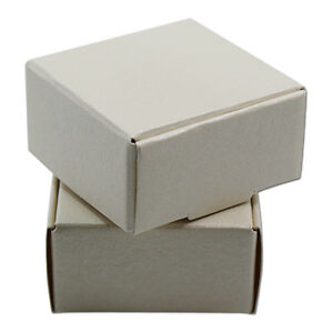 50x Kraft Paper White Black Boxes Wedding Candy Party Favor Gift Packing Boxes