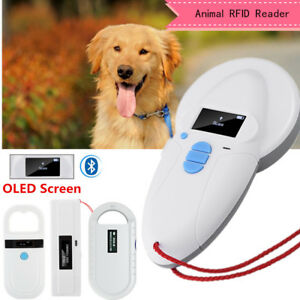 Rfid Reader Iso Fdx a Fdx b Animal Chip Dog Pet Microchip Scanner Oled Handheld