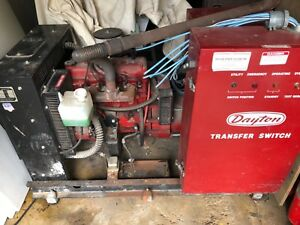 Dayton Natural Gas 20kw 25kva 3 Phase Generator Auto Switch Battery Charger Ford
