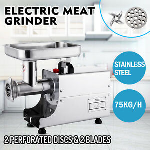 75kg h Stainless Steel Meat Grinder Meat Mincer 2 Knifes Catering 250w