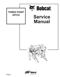 New Bobcat Three Point Hitch Repair Service Manual 2002 6900905