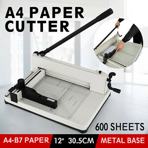 12 Inch A4 Paper Cutter Guillotine Trimmer Cutting Machine 600 Sheets Heavy Duty