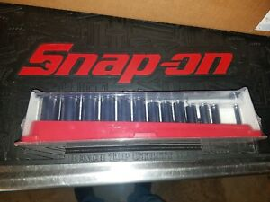 New Snap on 214sfy 14 piece Sae 3 8 12pt Flank Drive Deep Socket Set 1 4 1