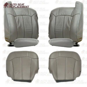 1999 2000 2001 2002 Chevy Silverado Gmc Sierra Leather Seat Cover Package Gray