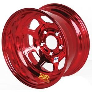 Aero Race Wheels 52 series 15x8 3in Bs 5x4 75 Steel Red Chrome