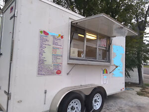 2018 7 X 14 Shaved Ice Concession Trailer Complete With Equipment