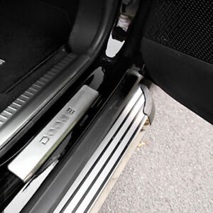 4x Steel Welcome Door Sill Scuff Plate Pedal Guard For Dodge Journey 2013 2016