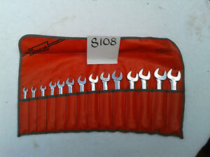Snap on Tools C 142 14 Piece Chrome Metric Combination Wrench Set