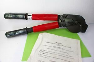 New Ratchet Cable Cutter Patent 4899445 556 Acsr No Guy Strand Usa