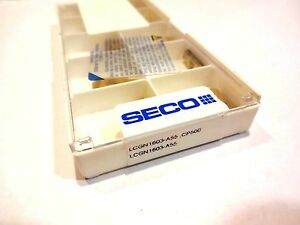 lot Of 10 Seco Lcgn 1603 a55 Cp500 Carbide Grooving Inserts