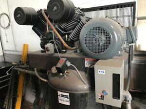 Air Compressor 10 Hp 3 Ph Two Stage Cast Iron Tefc Motor